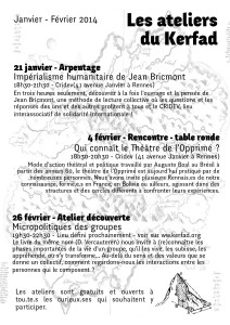 Bulletin Kerfad #1 recto